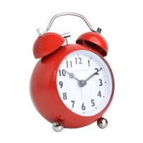 London Clock Company 04172 Red Bubble Twin Bell Alarm Clock